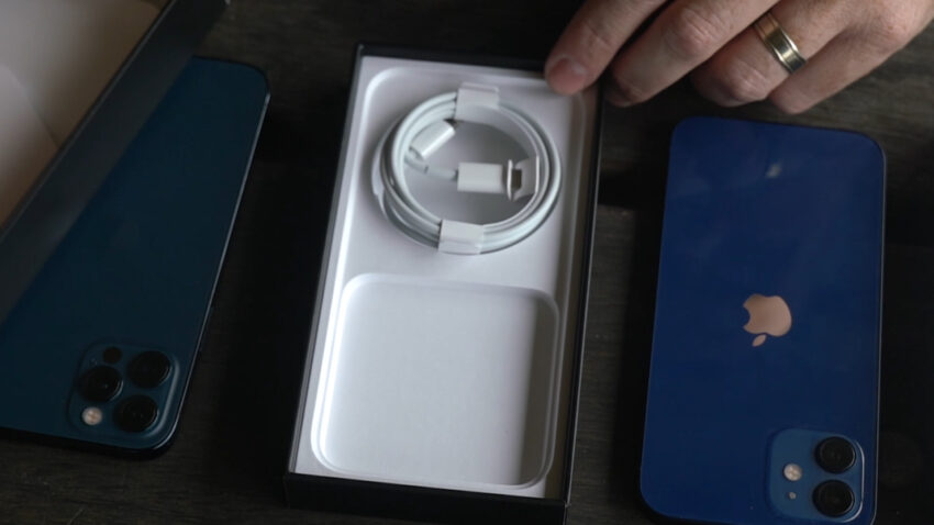 Inside the box of an iPhone 12 Pro