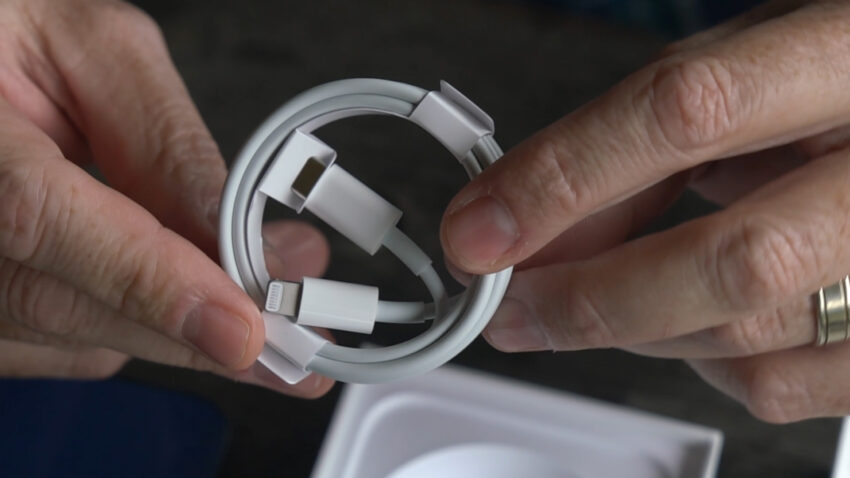 The cable you get with an iPhone 12 model