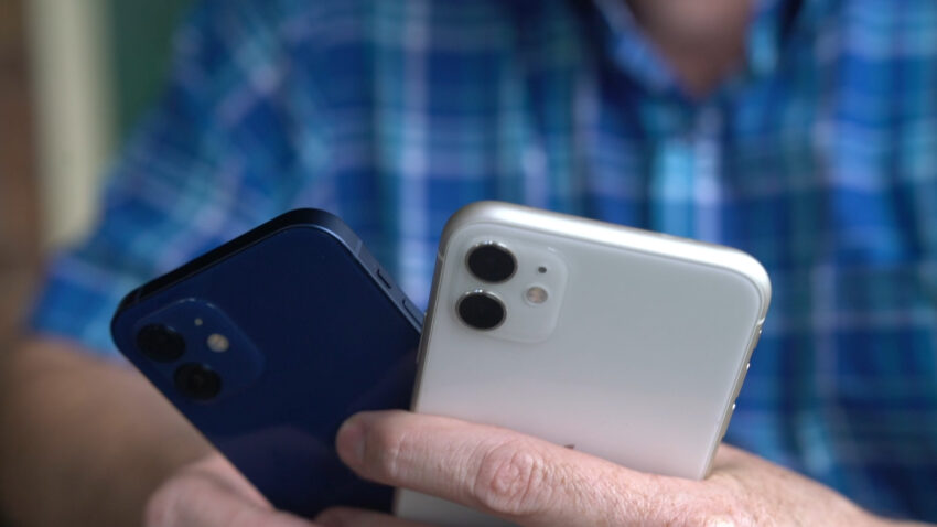 iPhone 12 compared to an iPhone 11