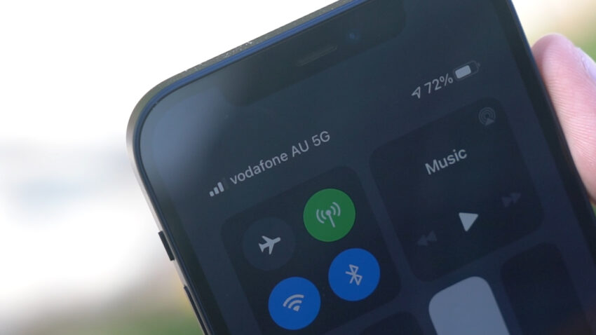 Vodafone 5G signal showing on iPhone 12