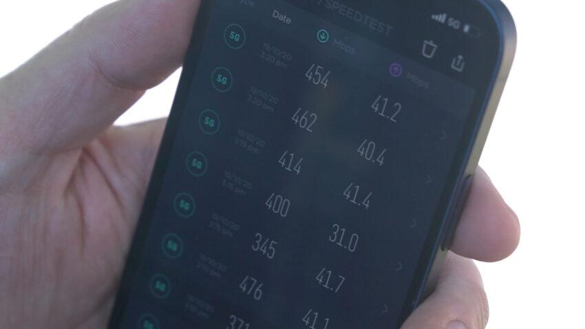 Consistent Optus 5G Speedtest results
