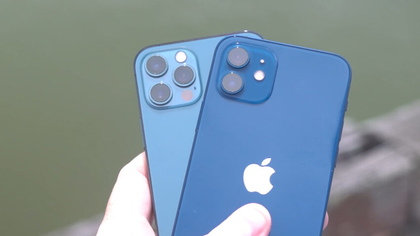 iPhone 12 and iPhone 12 Pro in Blue and Pacific Blue