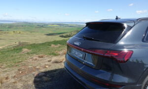 Audi e-tron from behind at a Winfarm