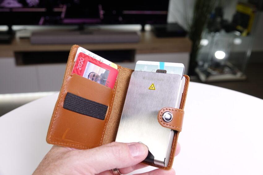 An open Ledlenser Lite Wallet showing cards inside