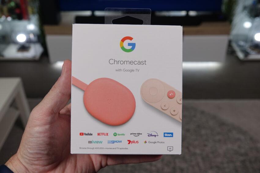 Chromecast with Google TV retail box
