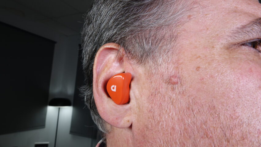 Close up of the Audiofly AFT2 headphone in ear