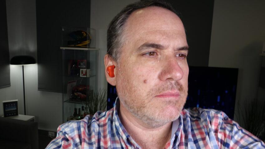 Trevor Long wearing the Audiofly AFT2 headphones