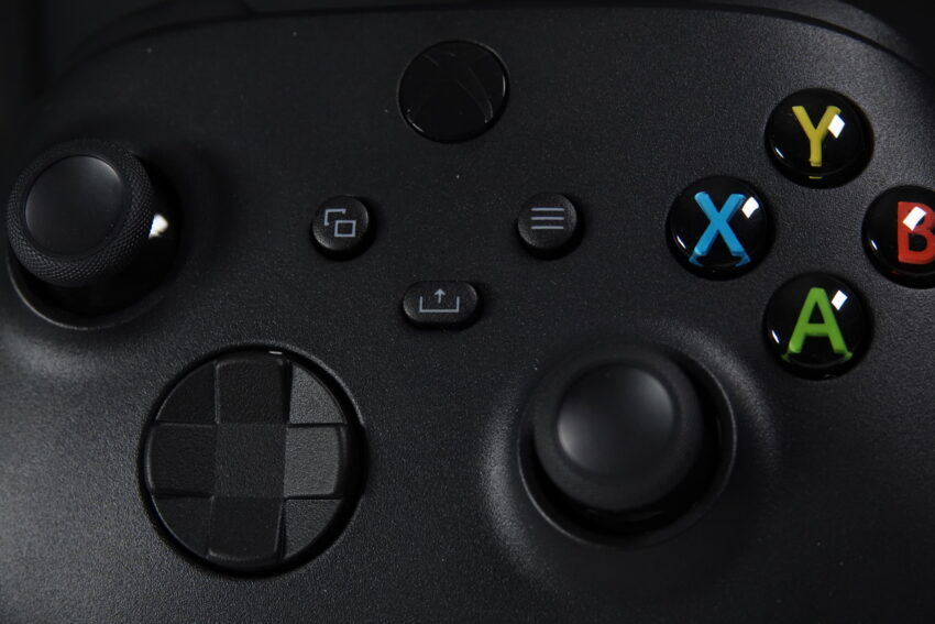 Xbox Series X controller close up with new Share button