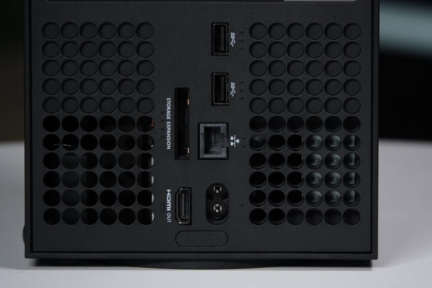 Rear inputs and outputs on the Xbox Series X